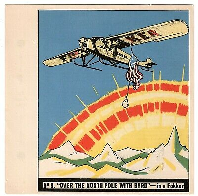 1936 Goudey History Of Aviation Complete 10 Card Set Unpunched 9