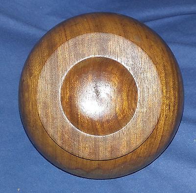 DECKELDOSE Holz HOLZDOSE Mid century RUND alt VINTAGE Handarbeit TEAK? Design 2