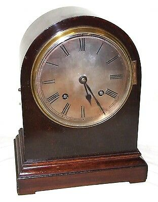 Antique Mahogany Bracket Mantel Clock : Strikes on Hour & Half Past 2