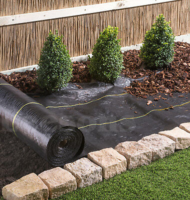 4m Extra Heavy Duty garden weed control fabric ground cover membrane landscape 3