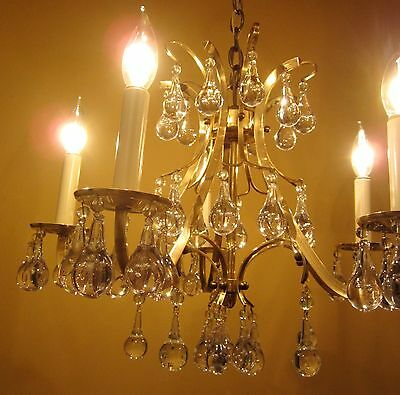 Vintage Lighting high quality Mid Century chandelier   Extraordinary Glass 5