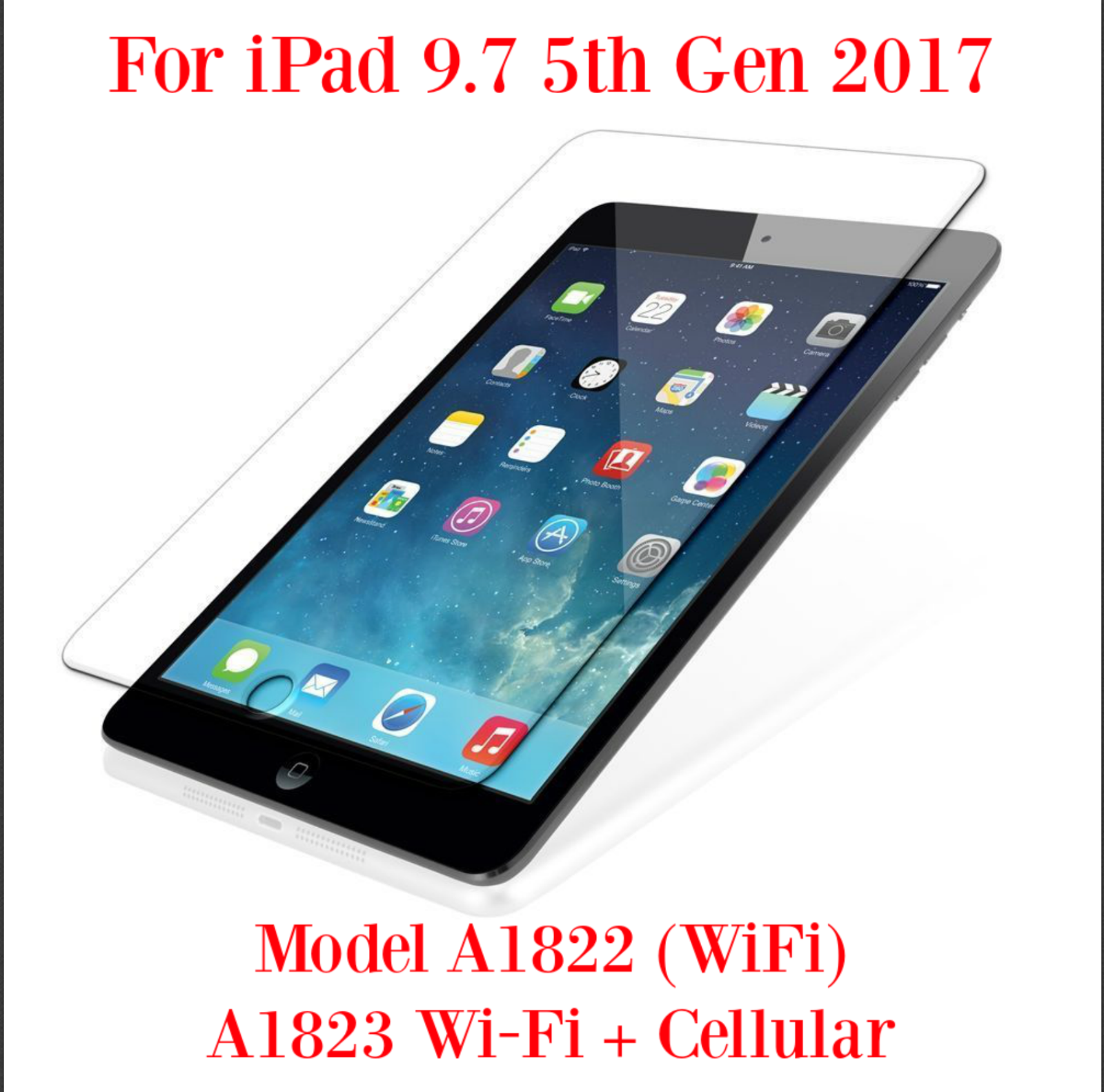Tempered Glass Screen Protector For iPad 2 3 4 5 6 7 Mini Air 1 Pro 12.9 9.7 7.9 11