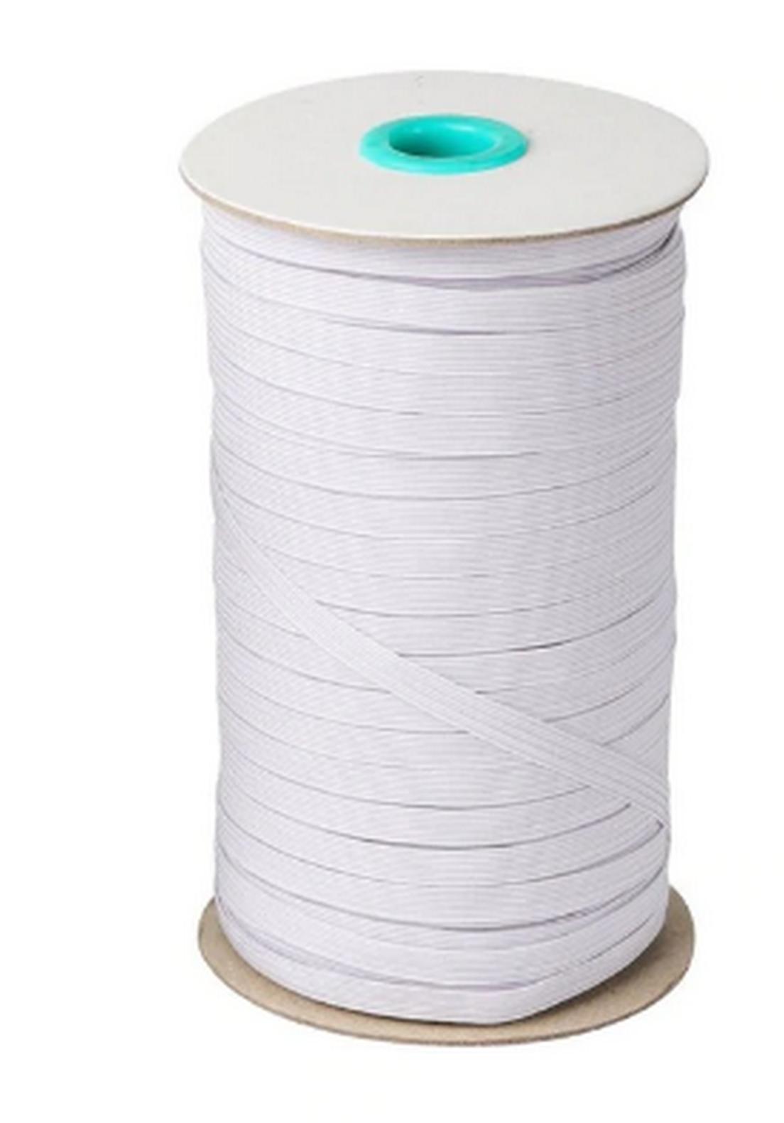 Elastique couture blanc plat 6 mm pour masque caoutchouc 5M 10M 15M 20M 2