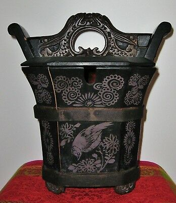 Tung Chih Qing Dynasty Chinese Lacquered Hand-Painted Teapot Box 1862-1874 10