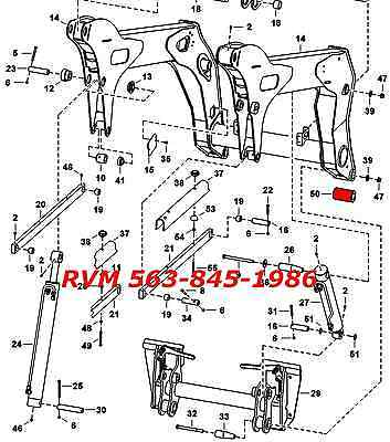 Bobcat 6728999 Loader Arm Boom Repair Bushing T320 Skid Steer Loader