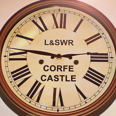London & South Western Railway, Victorian Style Waiting Room Clock, Corfe Castle 2