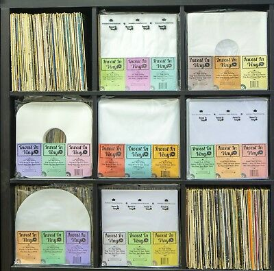 """100 LP Sleeves Combo - 50 3 Mil Outer & 50 Master Rice Paper Lined Inner 33 12"""" 6"""
