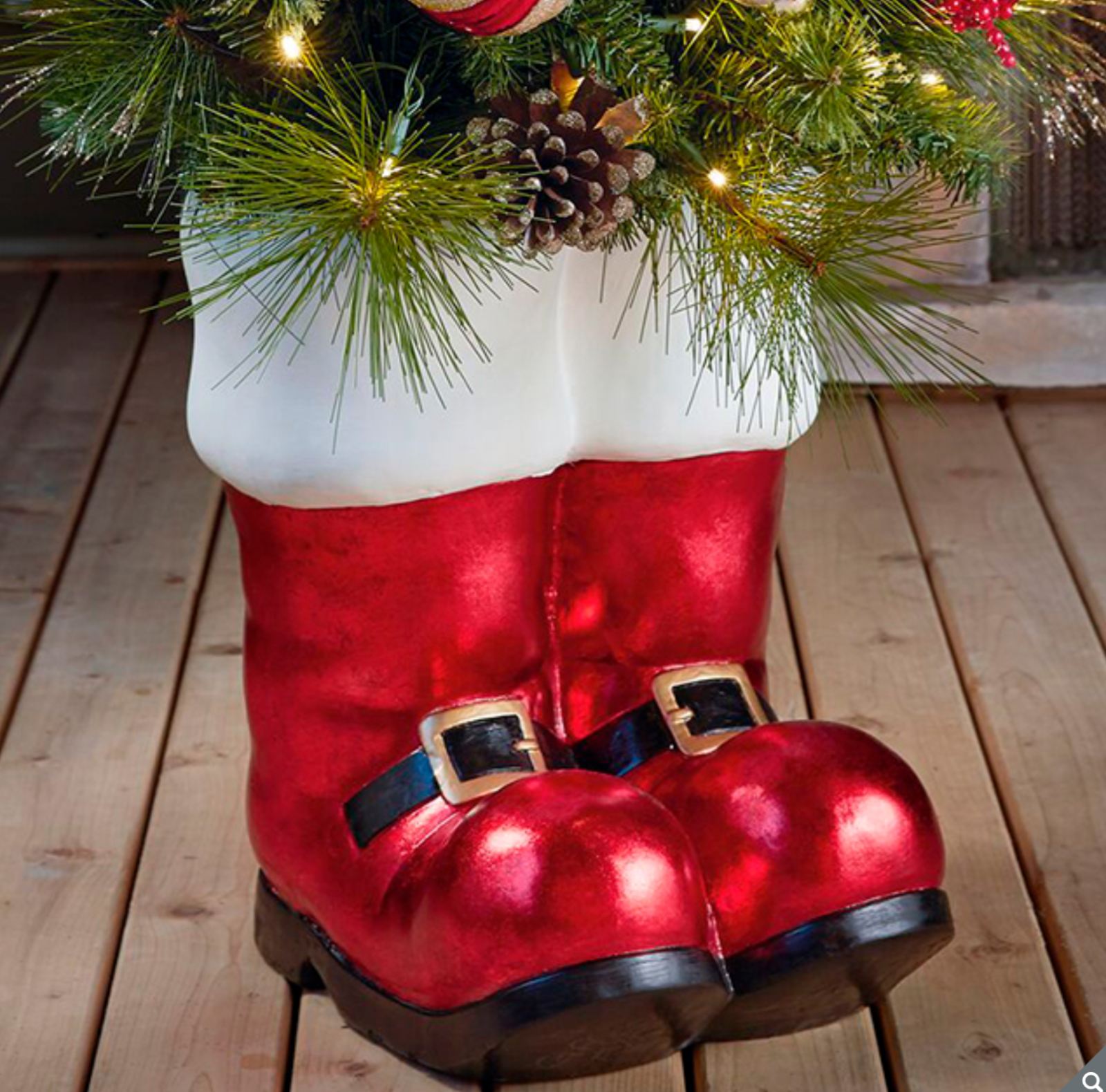 Large Fl Santa Boot 36 Christmas
