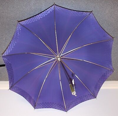 1960s ORIGINAL VINTAGE UMBRELLA BLUE 2