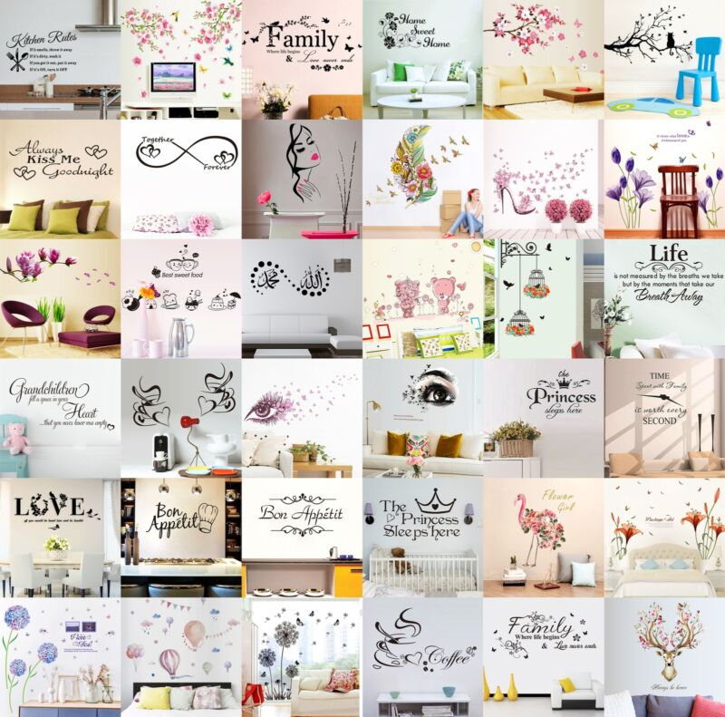 Quote Wall Stickers Vinyl Art Home Room DIY Decal Home Decor Removable Mural DVG 2