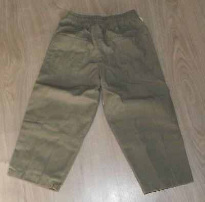Pantalon Toile Kaki Multi-Poches & Broderie  4 - 6 -10 - 12 Ans  Neuf 4