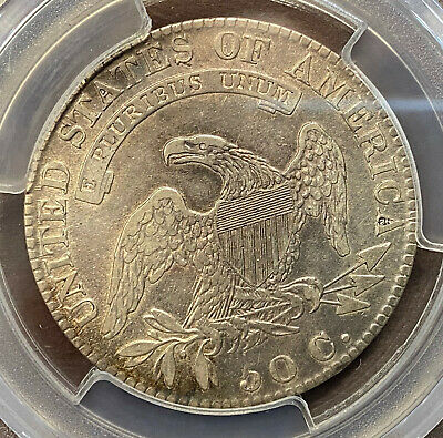 1819/8 50¢ Bust Half Large 9 PCGS VF Detail Cleaned Overton 105 3