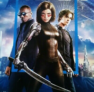 "ALITA BATTLE ANGEL Official Movie 13"" x 19"" PREMIERE NIGHT IMAX Promo Poster 3"