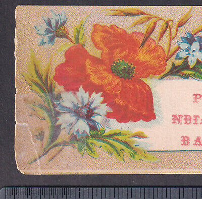 Pell's Indian Cough Balsam Cure Asthma Remedy bottle card Victorian Advertising 5
