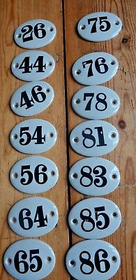 Antique Victorian handpainted ceramic door numbers various numbers available 5