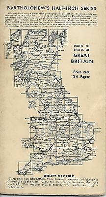 Vintage Bartholomew's Vale Of Severn Great Britain Sheet 18 Paper Map 2