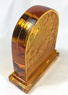 Desk Clock Amber With Crystals Home, Furniture & DIY