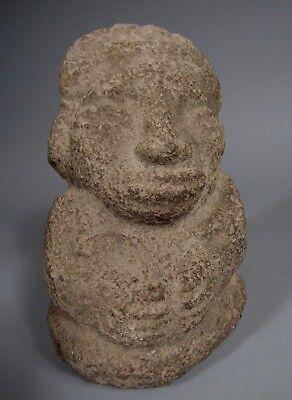 Costa Rica Nicoya Carved Stone Anthropomorphic Idol Statue ca. 500-800 AD 9