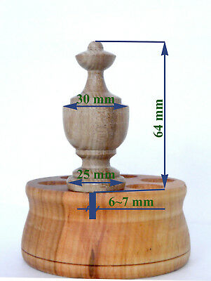 Wood Finials For Ansonia Triumph, F Kroeber Occidental Clock, 6 pieces 5