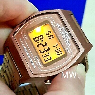 New Casio Vintage Rose Gold Digital Stainless Steel Watch B640WC-5ADF B640WC-5A 5