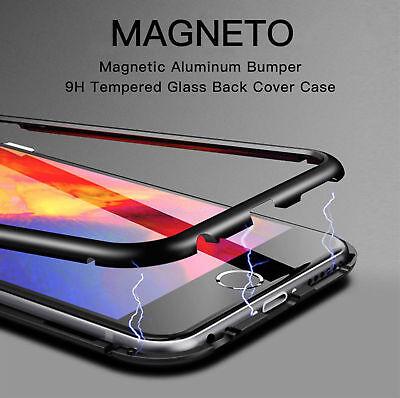 Coque Protection Magnétique Arrière Verre Trempé iPhone 6 6S 7 Plus 8 XR X S MAX 2