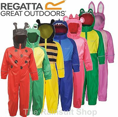 Regatta Puddle Fully Waterproof All In One Charco Rain Suit Kids Childs -Rkw148 2