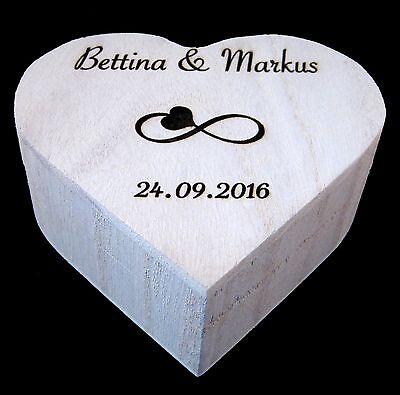 Ringbox Mit Gravur Holz Box Ringkissen Hochzeit Herz Ringkastchen