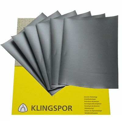 Wet And Dry Sandpaper 60 - 7000 Grit Klingspor Sand Paper Mixed You Choose 5