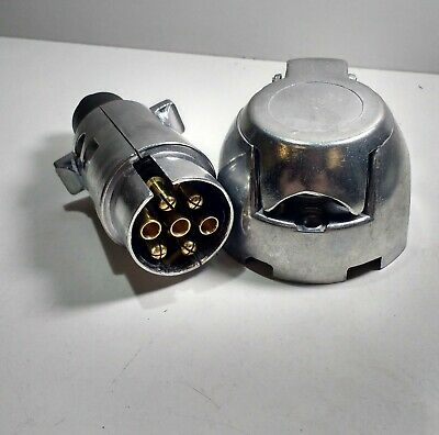 7 Pin Trailer Plug & Socket Aluminum 12V 12N Towing Car Van Maypole Mp25B+Mp24B 2