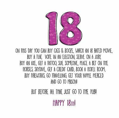 Funny Alternative Banter 18th BIRTHDAY Card Son Daughter Bestie Cousin 4
