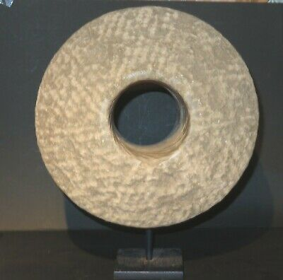 Exclusive and extremely Rare Chinese Stone Cannon wheel 12th Century 3