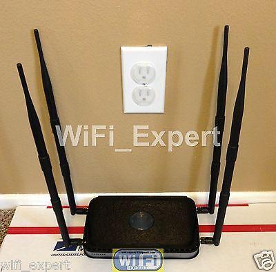 4 x 9dBi Antenna For EXTREME Mod Kit Netgear N600 WNDR3400 Dual Gigabit NO SOLDE