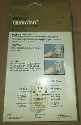 1 Of 3free Shipping Woods Guardian Plug In Gfci Adapter Turn Any Outlet To A Shock