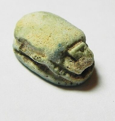 Zurqieh -Af615-  Ancient Egypt, New Kingdom. Stone Scarab 1400 B.c. 2
