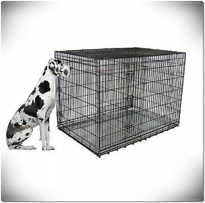 XXL Large Dog Crate Kennel Extra Huge Folding Pet Wire Cage Giant Breed Size 9