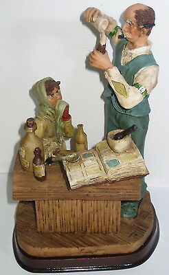 Der Apotheker, Deko Figur, Nostalgie Stil, aus Polyresin, abwaschbar, 21x13x10cm 3