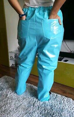 Adult Baby SISSY GUMMIHOSE PVC Hose LACK Jeans Gummi Unisex PLASTIK TRAVESTIE XL 10