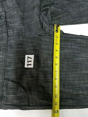 CHIME Indian Summer Short Pants 2 Pockets Black Gray Casual Women Size 11 7