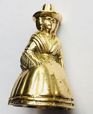 "Superb Rare Antique Miniature English Georgian (1800s) Elegant 2""/5cm Brass Bell 7"