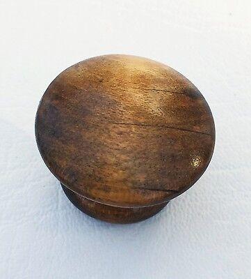 """Vintage Antique Hardware Maple Drawer Knob Wood Pull  1 1/4""""diameter Mushroom 2"""