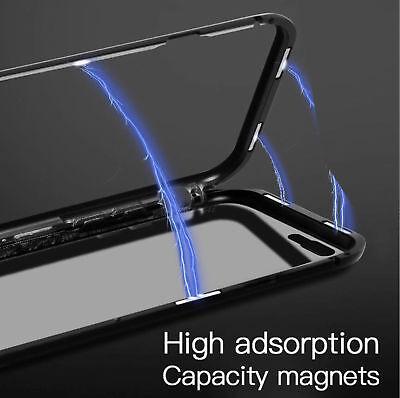 Coque Protection Magnétique Arrière Verre Trempé iPhone 6 6S 7 Plus 8 XR X S MAX 3