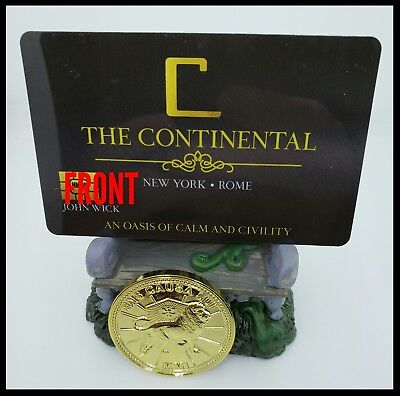 John Wick Continental Membership Card Hotel Room Card Movie Prop Baba Yaga  6