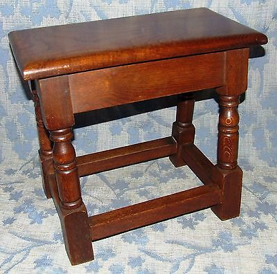 Antique Style SOLID Oak Joint Stool / Occasional Table / Lamp Stand (35) 2