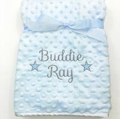 Personalised Baby Boy Girl Gender Neutral Blanket, Custom Embroidered Gift,Stars 3