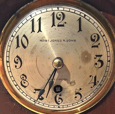 Antique W&H Winterhalder Hofmeier Bracket Mantel Clock Robert Jones Liverpool 9
