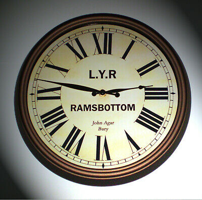 Lancashire & Yorkshire Railway LYR Victorian Style Clock, Ramsbottom Station 2