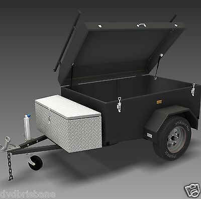 Trailer Plans - ENCLOSED LUGGAGE TRAILER - PLANS ON CD-ROM - Trailer Build 4