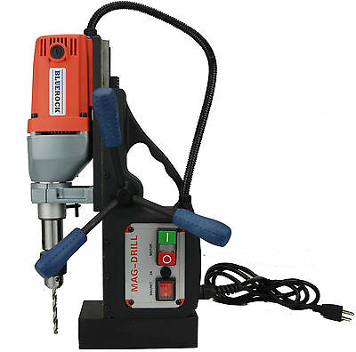 BRM-35A NEW BLUEROCK ® Tools Magnetic Drill - Mag Drill Typhoon Red Color