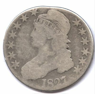1827 Bust Half * Likely Clipped Planchet Error !!! * Check It Out 3