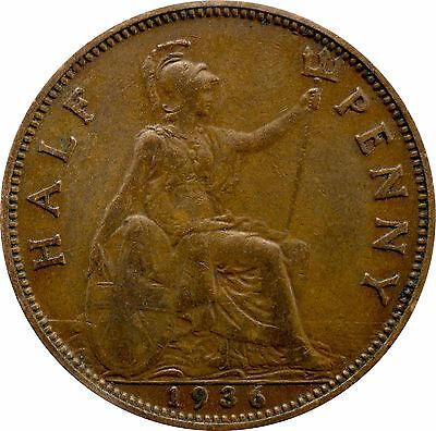 1911 To 1936 George V Half Penny / Half Pennies Choice Of Year / Date 2